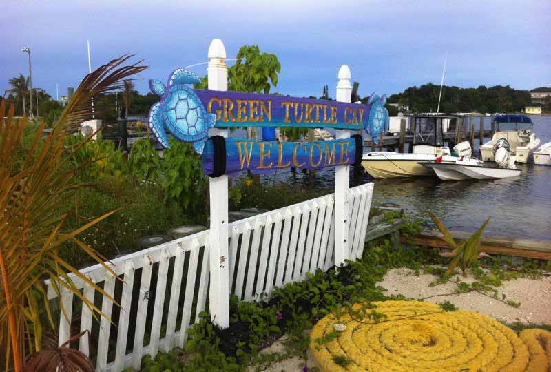 welcome-green-turtle-cay-harbour-sign